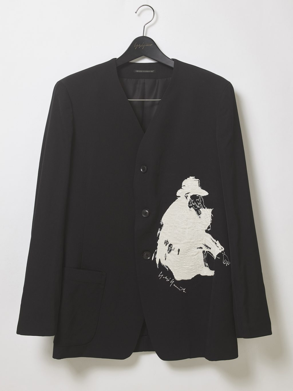 Yohji Yamamoto releasing ink painting inspired embroidery collection.
