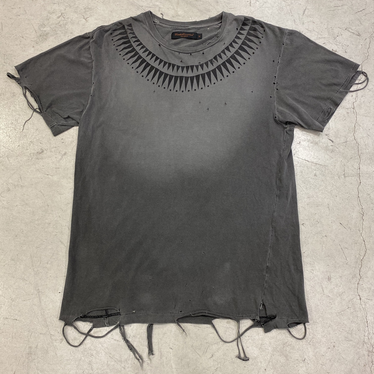 Undercover 2003ss distressed GIZ t-shirt.