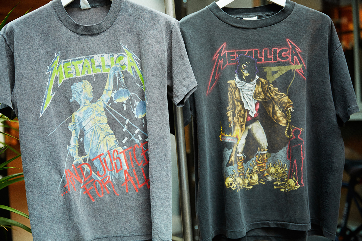 A band T-shirt designed for Metallica.