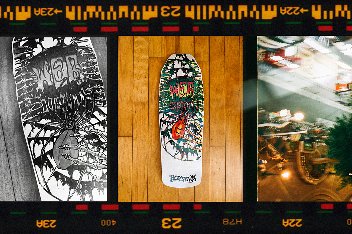 The skateboard decks made by DOGTOWN